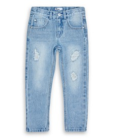 Little Boys Light Destroy Denim Jeans, Created for Macy's