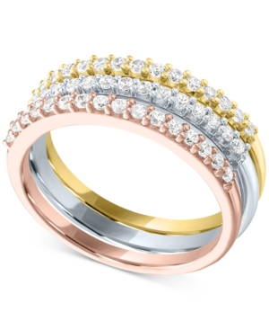 3-Pc. Set Lab-Created Diamond Stacking Rings (1/2 ct. t.w.) in Sterling Silver