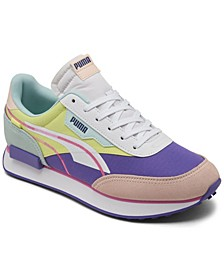 Women's Future Rider Twofold SD Neon Pop Casual Sneakers from Finish Line