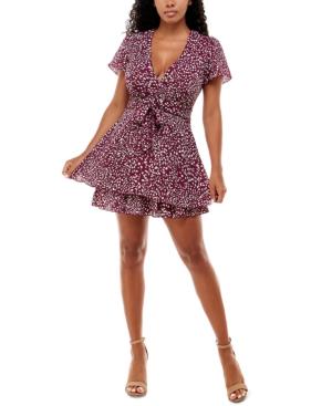 Juniors' Printed A-Line Dress