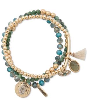 Gold-Tone Evil Eye & Hamsa Hand Beaded Stretch Bracelets