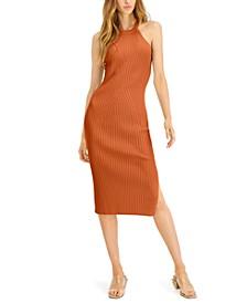 Halter-Neck Ribbed Midi Dress, Created for Macy's