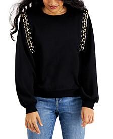 Solid Chain Sweatshirt, Created for Macy's