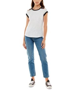 Juniors' Lattice-Shoulder Top