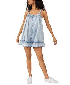Wild One Cotton Denim Mini Dress