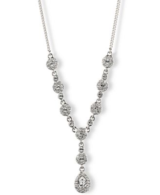 "Image of Givenchy 16"" Crystal Y-Neck Necklace"