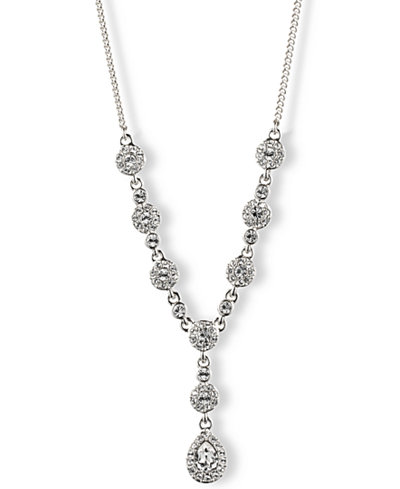 Givenchy Crystal Y Necklace - Jewelry & Watches - Macy's