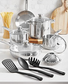 Stainless Steel 13-Pc. Cookware Set, Created for Macy's