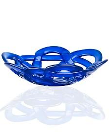 "Kosta Boda 12"" Colored Basket Bowl"