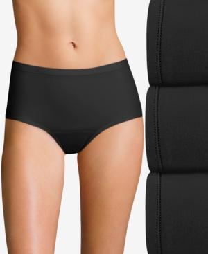 Women's 3-Pk. Fresh & Dry Leak Protection Liner Brief Period Underwear