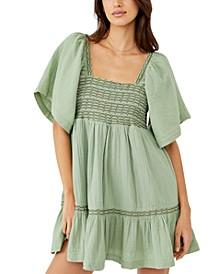 Easy To Love Cotton Bubble Mini Dress