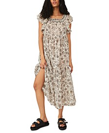 Bonita Cotton Printed Midi Dress