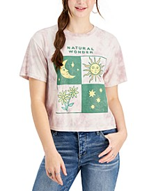 Juniors' Tie Dyed Natural Wonders Graphic T-Shirt