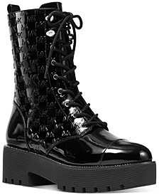 Women's Bryce Logo Lace-Up Lug Sole Combat Booties
