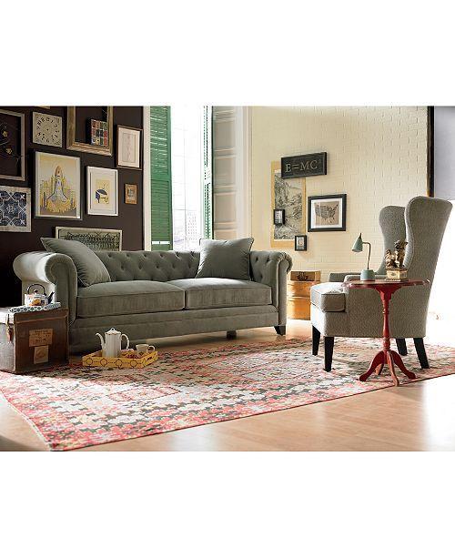 Incredible Saybridge Printed Fabric Accent Wing Chair Customarchery Wood Chair Design Ideas Customarcherynet