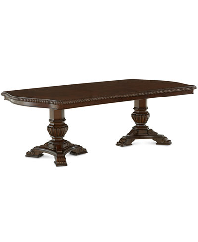 Lakewood Expandable Double Pedestal Dining Table - Furniture - Macy\'s