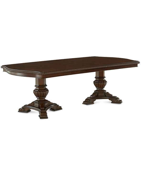Furniture Lakewood Expandable Double Pedestal Dining Table