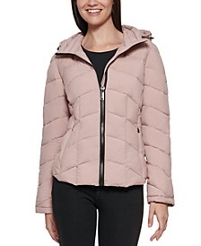 Hooded Stretch Packable Puffer Coat, Created for Macy's