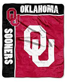 Northwest Company Oklahoma Sooners Plush Team Spirit Throw Blanket