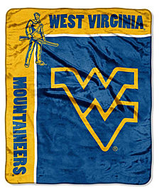Northwest Company West Virginia Mountaineers Plush Team Spirit Throw Blanket