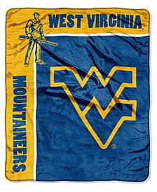 Northwest Company West Virginia Mountaineers Plush Team Spirit Throw Blanket