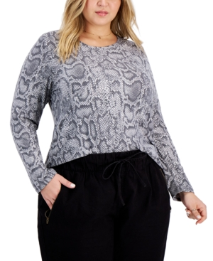 Trendy Plus Size Yummy Printed Top