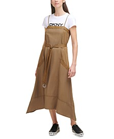 Mixed-Media Camisole Dress