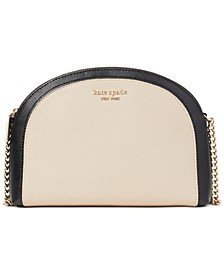 Spencer Double Zip Dome Leather Crossbody
