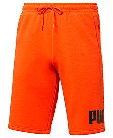 "Men's Regular-Fit Logo-Print 10"" Fleece Shorts"