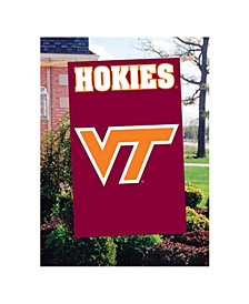 Party Animal Virginia Tech Hokies Applique House Flag