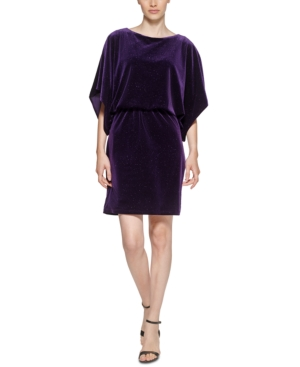 Dolman Sleeve Blouson Sheath Dress