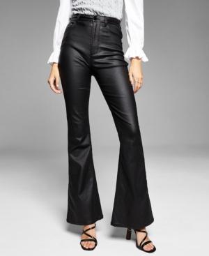 Women's Coated Flare-Leg Pants