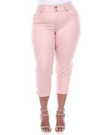 Plus Size Capri Jeans