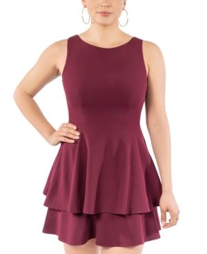 Juniors' Sleeveless Double-Hem Dress