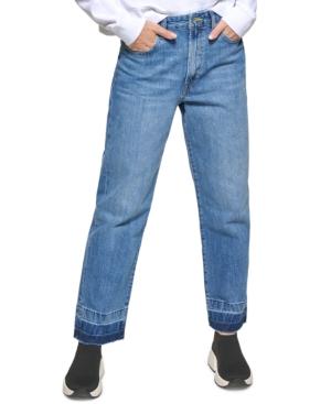 Kent Cotton High-Rise Straight-Leg Jeans