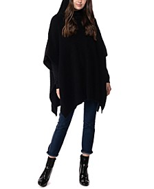 Hooded Knit Poncho, Created for Macy's