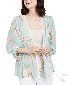 Floral-Print Maternity Kimono
