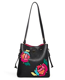 Women's Everything's Coming Up Roses Bucket Bag