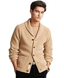 Men's Wool-Cashmere Shawl Cardigan