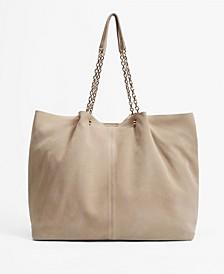 Women's Leather Shopper Bag