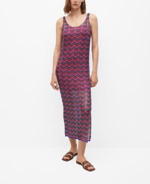 Women's Knit Openwork Sweater Dress