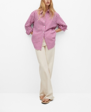 Women's Gingham Check Cotton Shirt