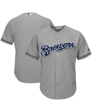 Men's Gray Milwaukee Brewers Team Official Jersey