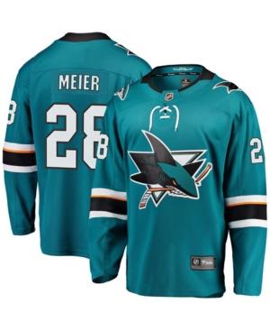 Men's Timo Meier Teal San Jose Sharks Home Premier Breakaway Player Jersey