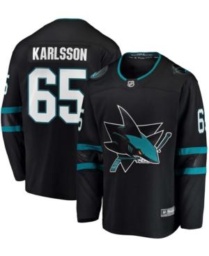 Men's Erik Karlsson Black San Jose Sharks Breakaway Alternate Player Jersey