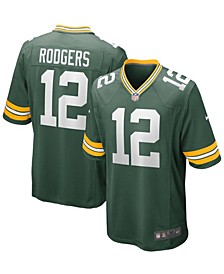 Men's Aaron Rodgers Green Green Bay Packers Game Team Jersey