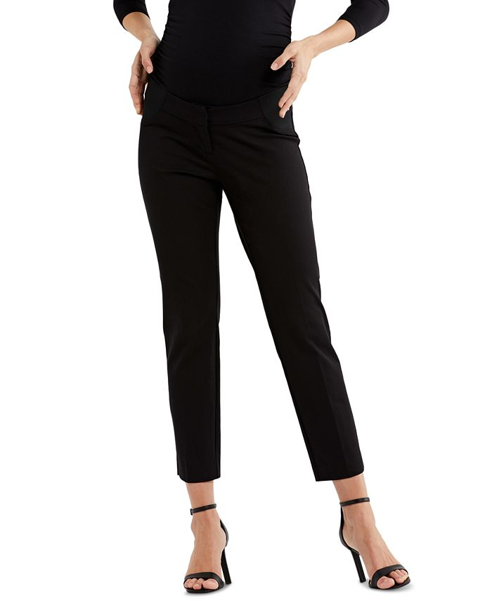 A Pea in the Pod - Maternity Straight-Leg Twill Pants