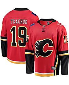 Men's Matthew Tkachuk Red Calgary Flames 2020/21 Alternate Premier Breakaway Player Jersey