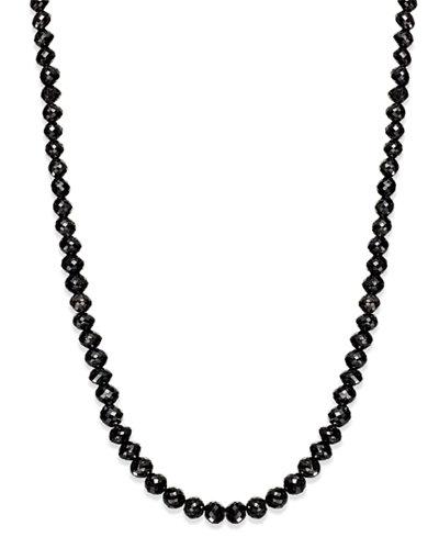 Black Diamond Necklace in 14k White Gold (25 ct. t.w ...
