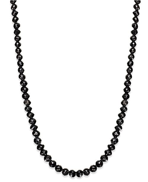 Macys black diamond necklace in 14k white gold 25 ct tw main image aloadofball Image collections